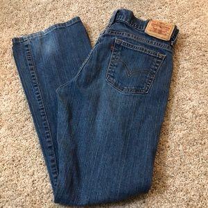 Bootcut Levi's jeans. Size 4 short